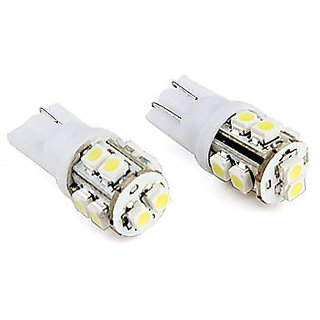 New 2 Pcs. 10 SMD Led Bulb 12 Volt Dc Car Bike Indicator Parking Bulb White