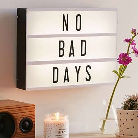 House of Quirk Cinema Light Box with 96 Letters and Symbols - DIY Cinematic LED Light Box, Free Combination (A4 size, 96
