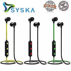Syska H15 Bluetooth Headphone Wireless Earphone with Mic