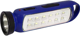 Rechargeable Emergency Light  and torch blue color (EN-690)