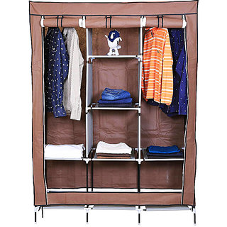 Shopper52 Fancy  Portable Fabric Collapsible Foldable Clothes Closet Wardrobe Storage Rack Organizer Cabinet Cupboard