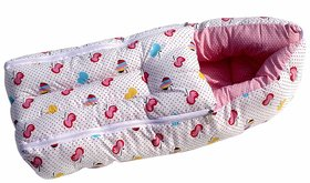 REBUY Soft Sleeping Bag for Babies Baby Carry Bag Pink Color