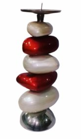 Metalcrafts Metal candle stand, unbreakable, 35 cm