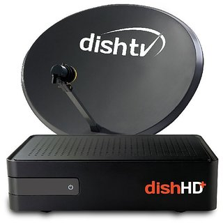 Dish TV HD Connection With 6 Month Super family HD + star bhart HD + ICS Oriya HD Pack