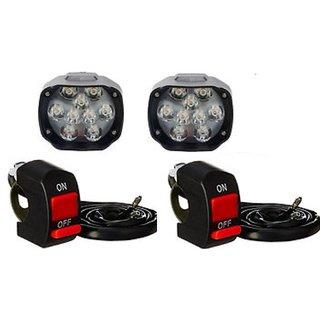 Motorcycle Bike LED Headlight FOG LIGHT 9 LED 2 PCS FREE 2 ON/OFF SWITCH