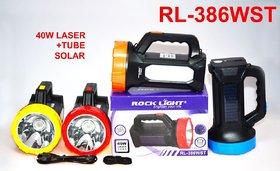 Rock Light RL-386WST 40 Watt Solar Rechargeable Long Beam Torch With One Tube Emergency Light