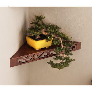 Home Sparkle MDF Decorative Corner Wall Shelves, Suitable For Living Room/Bed Room (Designed By Craftsman)