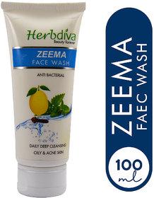 Herbdiva Zeema Face Wash 100ml With Skin Whitening Cream20ml