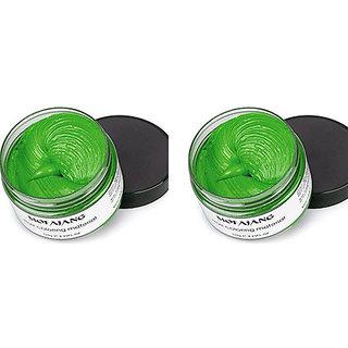 blushia Green Hair Color Wax Pack Of 02. 50 gm Each For Men Women