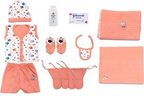 Born Baby Platinum Kit 8 in 1 (Baby Suit, Baby Booties, Cap, 4 Langot, Baby Rumaal, Baby Soap, Baby Powder, 2 Bed Sheet)
