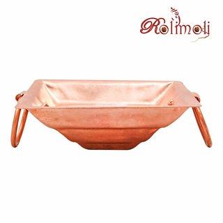 Rolimoli 100% Pure Copper Hawan kund Hindu Yagya Pooja (4.5 Inch)