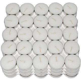 Shri Anand  Tea Light Candle(10) Candle  (White, Silver, Pack of 10)