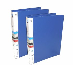 Ring Binder File 2D A4 Size Tough  Durable A4 Size Ring Binder Box Board File for Certificates Document Holder - Blue p