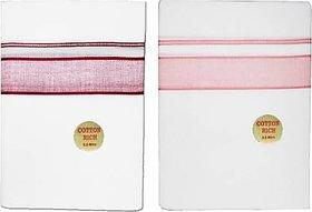SHRI ANAND Men's Cotton Dhoti (1.30 X 4.5 Meter)Set Of 2 Solid Men Dhoti