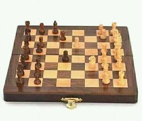 Metalcrafts wooden chess board, folding, intelligent indoor game, good for gifting, 25 cm (10)