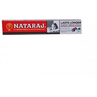 Nataraj 621 Hexagonal Shaped Pencils (Set of 10, Red-Black)