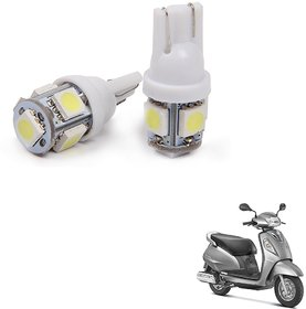 Auto Addict Scooty T10 5 SMD Headlight LED Bulb for Headlights,Parking Light,Number Plate Light,Indicator Light For Suzuki Access 125