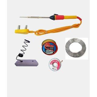 5 in1 Electric Soldering Iron Stand Tool Wire Stripper Kit 25 Watt Soldering Iron