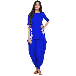 Blue Kurta with dhoti by Jamnaikaa