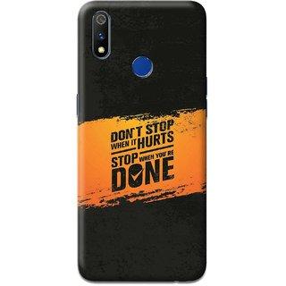 CoDecor Premium Designer Compact Hard Matte [Plastic] [Slim Fit] [Waterproof] Back Case Cover For Oppo Realme3 Pro [TEX1108OPRM3P]