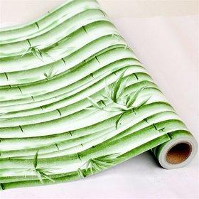 Jaamso Royals Wood Bamboo Peel and Stick Wallpaper Vintage Wood Panel Wood Plank Wallpaper Contact Paper for Livingroom Bedroom Kitchen Bathroom  (100  45 CM)