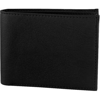 Fashion Trendstter New Genuine Leatherite Black Wallet For Men - Amazing Men In Black Edition - Best Present For Mens