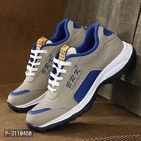 BRK Gray Synthetic EVA Sports Shoes For Men