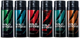 Wild Stone Aqua Fresh Deo Deodrant Body Spray For Men (Set of 4)