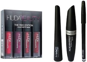 the new liquid matte lipstick pink adition set of 4 with eyeliner combo