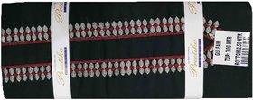 Varun Cloth House Mens Cotton Unstiched Embroided Kurta Pyjama (vch7154, Black, Free Size)