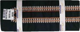 Varun Cloth House Mens Cotton Unstiched Embroided Kurta Pyjama (vch7155, Black, Free Size)