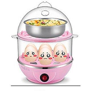 RUDRESHWAR Double Layer Electric Egg Boiler- 14 Egg Poacher Egg Cooker
