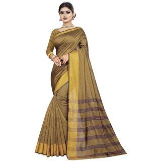 Great Rate Women's Cotton Silk Woven Saree (LP Pallu Mustard)