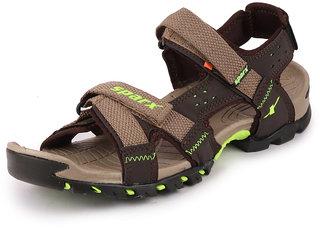 Sparx Men Camel Green Outdoor Sandals