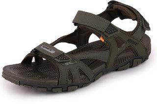 Sparx Men Olive Black Outdoor Sandals