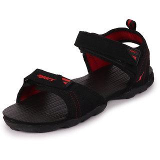 Sparx Men Black Red Outdoor Sandals