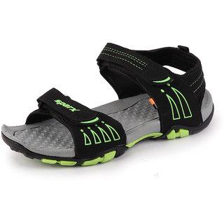 Sparx Men Black Green Outdoor Sandals