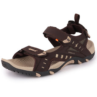 Sparx Men Brown Beige Floater Sandals