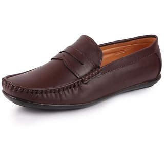 Lakhani Men Brown Slip On Formal Loafers