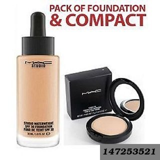 Mc Foundation And Compact Combo Of 2Spf May Vary