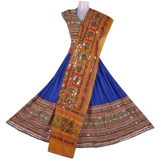 Lehnga Choli Free Size (Royal Blue),Hand Work