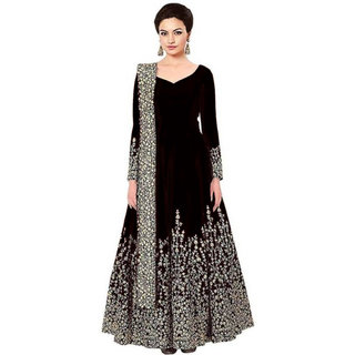 Florence Black Bangalore Silk Embroidered Gown