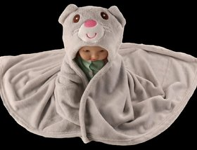 G-Trading Hub 3-in-1 Wrapper/Blanket/Bath Gown Towel for Babies Upto 2 years Of Age