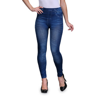 ENAA FASHION Women  Girls Stretchable Jeggings in Denim Look (Pack Of 1)