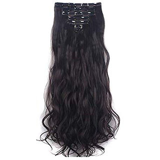 GadinFashion 13 Clips  Curly Head Hair Extensions For Women Real Hair And Hair Extensions For Girls To Increase Instant Length And Volume (Black)