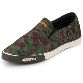 Sparx Men Olive Military Sneakers