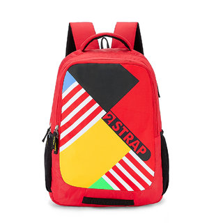 2STRAP Unisex Jumble Red-Yellow Laptop Backpack Bag