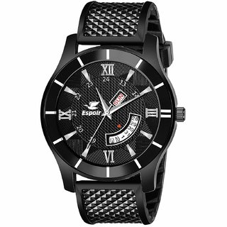 Espoir Analogue Black Dial Day and Date Boy's and Men's Watch - Bumrah0507