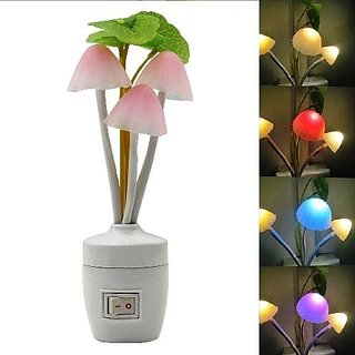 A1 Mushroom Shaped Led Color Changing Night Lamp With Sensor