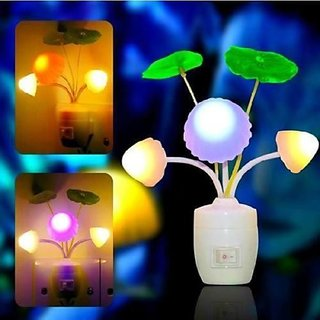 JARSA Color Changing LED Mushroom Night Lamp Light with Switch